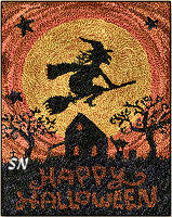 Happy Halloween in punch needle from Teresa Kogut -- click to see more