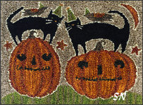 Halloween Duos in punch needle from Teresa Kogut -- click to see more