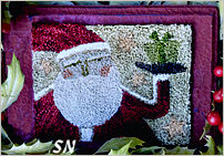 PN160 Primitive Santa in punch needle from Teresa Kogut -- click to see more