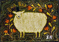 PN166 Tophat Sheep in punch needle from Teresa Kogut -- click to see more