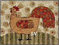 PN188 Funky Chicken in punch needle from Teresa Kogut -- click to see more