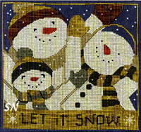 Let it Snow in Cross Stitch from Teresa Kogut -- click to see more