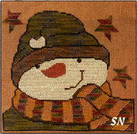 Sam Snowman in Cross Stitch from Teresa Kogut -- click to see more