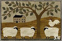 XS147 Wooly Estate in cross stitch from Teresa Kogut -- click to see more