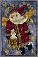 XS177 Santa Angel in cross stitch from Teresa Kogut -- click to see more