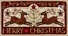 XS186 Oh Deer, It's Christmas in cross stitch from Teresa Kogut -- click to see more