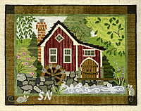 Teresa Layman The Old Mill CROSS STITCH -- click to see a larger view!