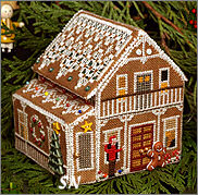 Gingerbread Retreat Cottage from The Victoria Sampler - click for more