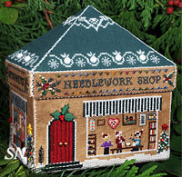 Gingerbread Needlework Shop from The Victoria Sampler - click for more