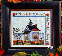 Pumpkin Cottage from The Victoria Sampler - click for more