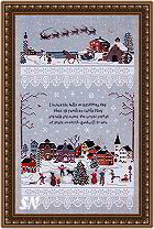Christmas Village from Victoria Sampler -- click to see a larger view