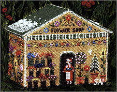 Gingerbread Flower Shop from The Victoria Sampler - click for more