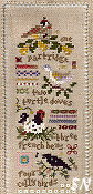 One section of the Twelve Days Sampler from The Victoria Sampler - click for more