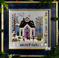 Winter Cottage from The Victoria Sampler - click for more