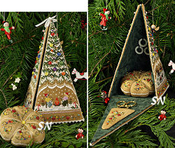 Gingerbread Tree Etui from The Victoria Sampler - click for more