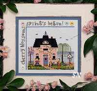 Cherry Blossom Cottage from The Victoria Sampler - click for more
