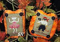 Halloween Boo Buttons #1 from The Victoria Sampler - click for more