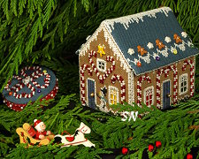Candy Cane Cottage from The Victoria Sampler - click for more