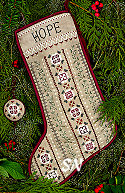 Mistletoe Stocking from The Victoria Sampler - click for more