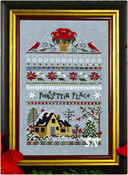 Poinsettia Place Sampler from The Victoria Sampler - click for more