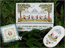 Stitching Under The Oak from The Victoria Sampler - click for more