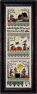 Stitchin Witches from The Victoria Sampler - click for more