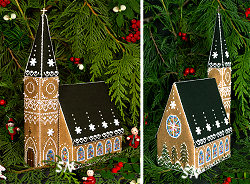 Gingerbread Church from The Victoria Sampler - click for more