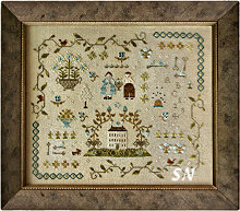 Heart of the Home Sampler from With Thy Needle & Thread - click for more