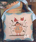 Easter Peep in Cross Stitch from With Thy Needle & Thread - click for more