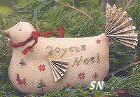 French Hen in Cross Stitch from With Thy Needle & Thread - click for more