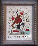Feather Your Nest in Cross Stitch from With Thy Needle & Thread - click for more