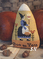 Candy Corn in Cross Stitch from With Thy Needle & Thread - click for more