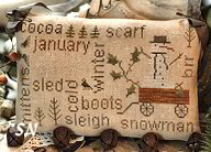 January Word Plays from With Thy Needle & Thread - click for more