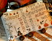 October Door Bells! Word Plays from With Thy Needle & Thread - click for more
