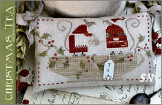 CS198 Christmas Tea Chart from With Thy Needle & Thread - click for more