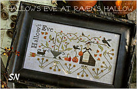 Hallows Eve at Raven's Hallow from With Thy Needle - click for more