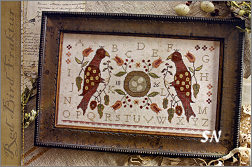 Red Bird Fraktuur from With Thy Needle & Thread - click for more