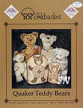 Quaker Teddy Bears from The Workbasket -- click to see a larger view