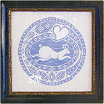 Rabbit Roundel from The Workbasket -- click to see a larger view
